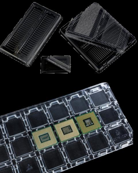Trays für Prozessoren und Arbeitsspeicher